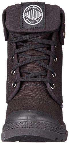 negro RISE lona HEEL Palladium zapatillas BAGGY 062 deportivas Schwarz HI BLACK de mujer altas x7w8qY