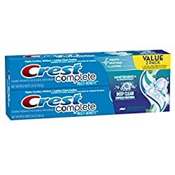 Crest Complete Multi-Benefit Whitening + Deep Clean Toothpaste, Effervescent Mint, 5.8 ounce, Pack of 2