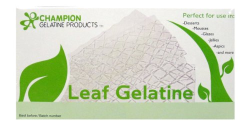 Leaf Gelatin - Bronze Leaf Gelatin Sheets, 300 Sheets, 150 Bloom, Champion Leaf Gelatine, 1/KG (2.2/Lbs)