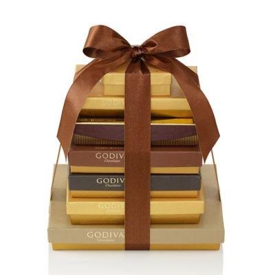 Godiva Chocolatier Decadent Dreams Gift Tower, Chocolate Variety Gift Basket - Fall Assorted Chocolates