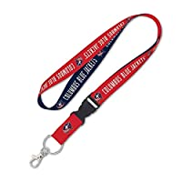 """WinCraft NHL Columbus Blue Jackets Lanyard with Detachable Buckle, 3/4"""""""