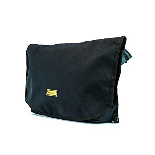RESTRAP Messenger Bag Black Sac étanche Sacoche Waterproof Accessoires bagagerie vélo Mixte Adulte, Noir WY0IW|#RESTRAP RS_MB1_SML_BLK