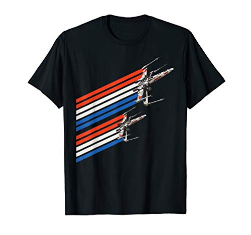 Star Wars X-Wing Starfighters American Flag T-Shirt (Star Wars Empire At War Phoenix Rising)