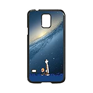Nature Cartoons Calvin And Hobbes Custom Image Case, Diy Durable Hard Case Cover for Samsung Galaxy S5 I9600, High Quality Plastic Case By Argelis-Sky, Black Case New