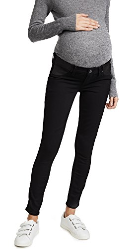 PAIGE Women's Maternity Verdugo Ultra Skinny with Elastic Insets in Black Shadow, 27