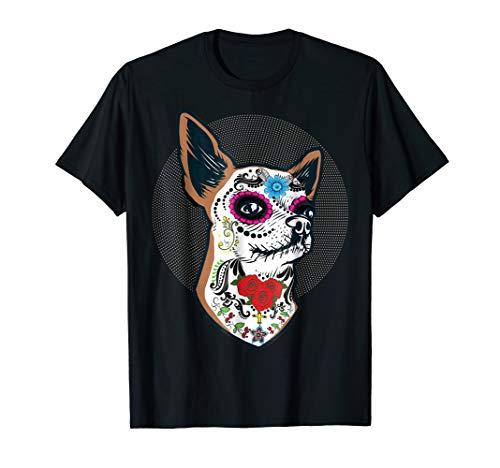 Sugar Skull Chihuahua Dog Shirt Perro Calavera -
