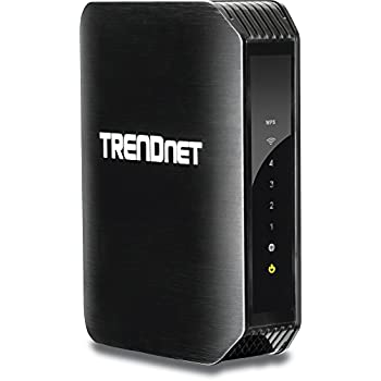 TRENDnet N300 Wireless Gigabit Router, 2 x 1.5 dBi Antennas, Pre-Encryped, One Touch Connection, WAN Port, LAN Ports,IPv6, TEW-733GR