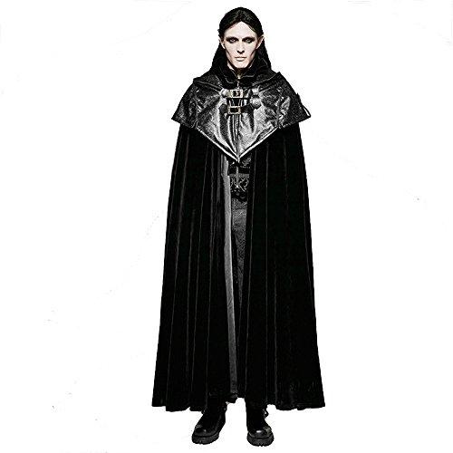 Uomo Da Devil Cappuccio Stile Lungo Con Mantello Cappotto Gotico Shackles rwEqgSExt