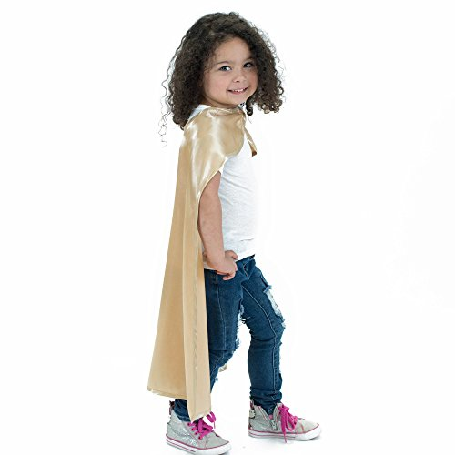 Gold Polyester Satin Superhero Cape - Kids
