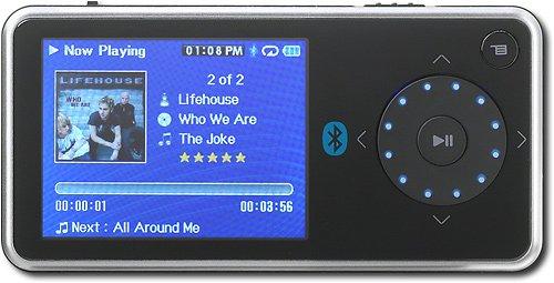 """Insignia Pilot 4GB USB MP/MP3/FM /Bluetooth w/2.4"""" LCD (Black)"""