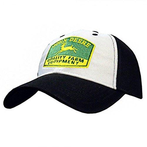 John Deere Vintage Diamond Mesh Cap - Quality Farm Equipment - Black/White (Quality Farm Equipment)