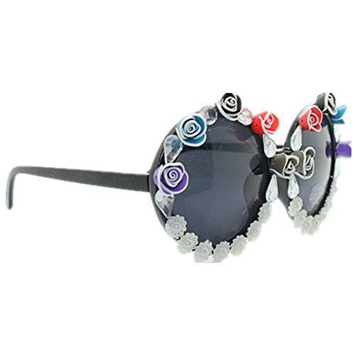 mano la ligero la a pequeñas polímero Gafas las de sol forma la la de playa del hechas de sol de Gafas perla Ultra protección U arcilla la de de sol de de la redonda de gafas las mujeres de para playa AxzAqd