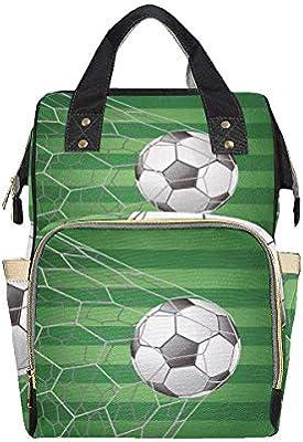 Balón de fútbol en portería con campo de hierba Mochila para ...