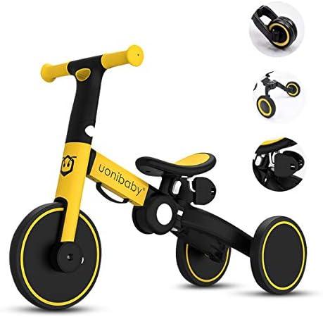 OLYSPM 5 in 1 Laufräder Kinder Dreirad Lauflernhilfe,leichtes Kinderrad Lauflernrad faltbar Kinderlaufrad,mit Schubstange Kinderdreirad,laufrad ab 2 Jahre bis 6 Jahren