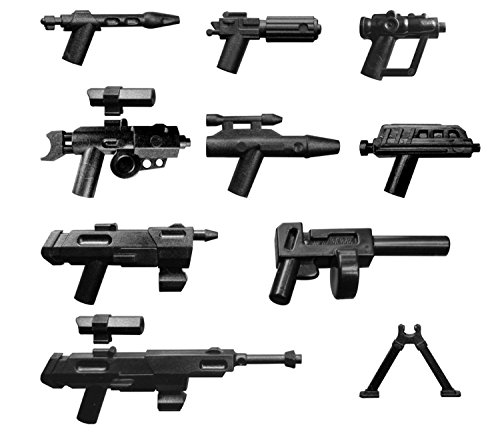 LEGO Star Wars / Little Arms Weapon Set : - DC -15 DC -17 SNIPER SCOUT REX BLASTER PISTOL total of 9 TOP weapons for your collection