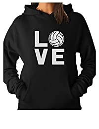 TeeStars - Love Volleyball - Gift Idea for Volleyball Fans Women Hoodie