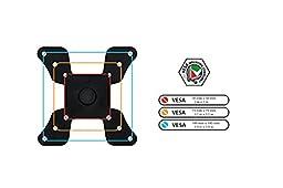 Mount-It! Single LCD Monitor Desk Mount Stand Height Adjustable Tilt Swivel VESA 50, 75, 100 Fits 22, 23, 24, 27, 30 Inch
