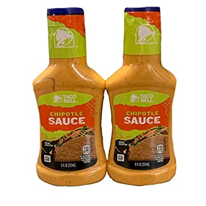 Amazon Com Taco Bell Chipotle Sauce Chipotle Sauce 8 Oz Great For Tacos Wraps And Salads Pack Of 2 8 Oz Each Grocery Gourmet Food