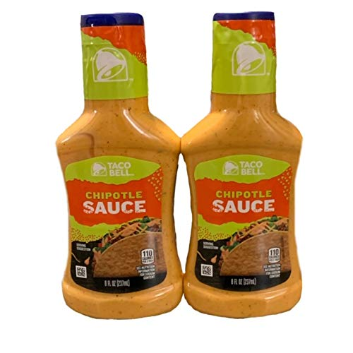 Taco Bell Chipotle Sauce   Chipotle Sauce 8 oz   Great for Tacos, Wraps, and Salads   Pack of 2   8 oz Each
