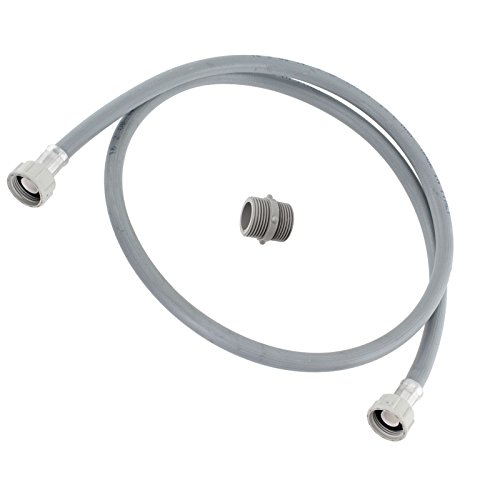 Spares2go Straight End Cold Water Fill Inlet Hose Extension for AEG Washing Machine (1.5M)