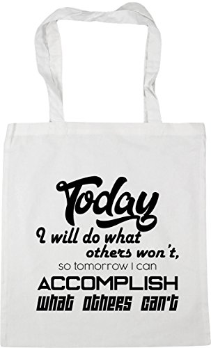 I Do Tote litres Beach 10 Others x38cm Today Can HippoWarehouse Can't What Won't Gym Shopping Tomorrow Will I 42cm White So Bag Accomplish Others What wtAzpAq