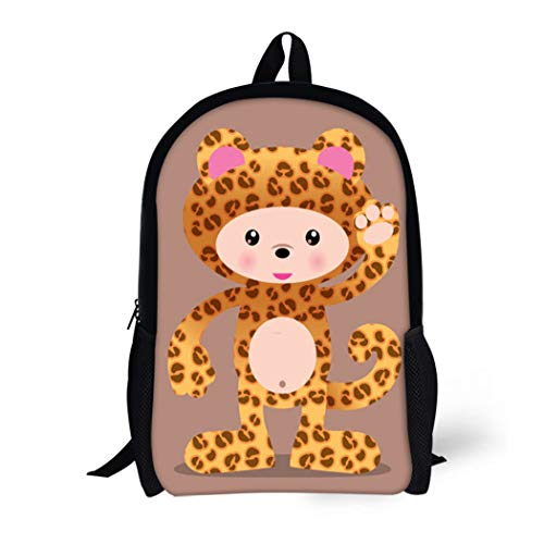 Pinbeam Backpack Travel Daypack Anime Cute Leopard Cheetah Manga Halloween Zoo Adorable Waterproof School -