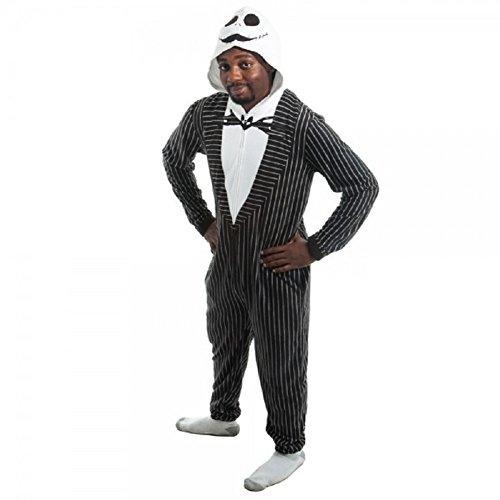 Nightmare Before Christmas Jack Skellington Union Suit Size M (The Nightmare Before Christmas Jack Skellington Adult Costume)