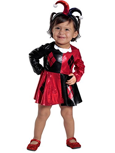 Box Baby Costumes (Princess Paradise Baby Girls' Harley Quinn Costume Dress and Diaper Cover Set, As Shown, 18M/2T)