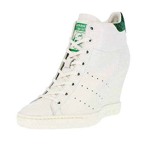 the best attitude 290f8 47a50 adidas Originals Women's Stan Smith UP Snake White Wedge ...