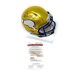 Adam Thielen Minnesota Vikings Signed Autograph RARE Blaze Speed Mini Helmet JSA Witnessed Certified