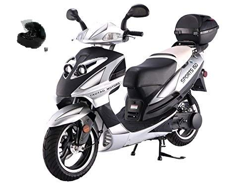 SMART DEALSNOW Brings Brand New 150cc Gas Fully Automatic Street Legal Scooter TaoTao 150cc with DOT approved HARD HEAD HELMET Included - CHOOSE your COLOR