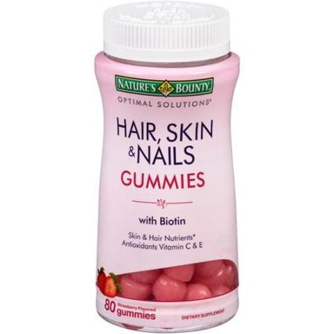 Cheap Nature's Bounty Optimal Solutions Hair, Skin and Nails Gummies, 460 Count , Bounty-eggf
