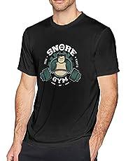 SNO-Rlax Gym T-shirt voor heren, sport met korte mouwen, vochtregulerend stretch-T-shirt