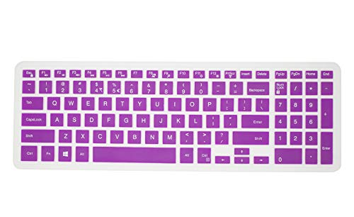 (Keyboard Cover Skin protecotr for 15.6 Inch Dell G3 G5 G7 Series/New Inspiron 17 3000 Series/Insprion 17 7786/15 3000 5000 Series/New Dell G5 15 Series/Dell G7 15 17 Series -Purple)
