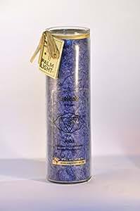 Palm Light 4041678000851Vela, Ajna Chakra del, aprox. 100horas de combustión, 20cm, color azul/Indigo