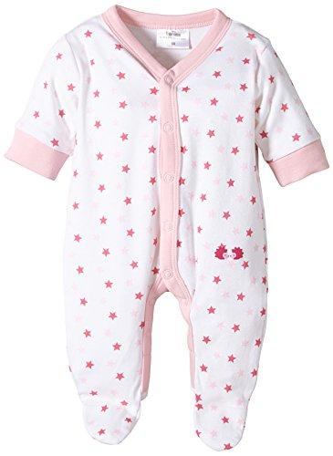 Twins Baby - Mädchen Schlafstrampler mit Sternchen, All over print, Gr. 56, rosa (weiss/rosé)