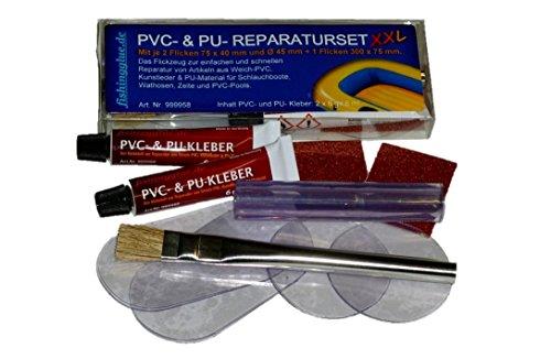 PVC & PU REPARATUR SET XXL, Flickzeug für Schlauchboot Zelt Pool Gewebe Planen Markise Isomatte Luftmatratze Vinyl PVC PU (Polyurethan)