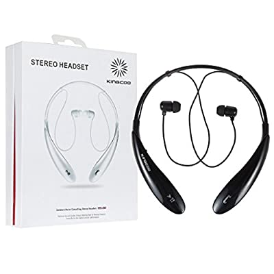 KINGCOO Wireless Stereo Bluetooth Headset Universal Vibration Bluetooth Neckband Style Earphone Bluetooth Headphones ,Running Sport Headphones Earbuds Earphone with AptX,Mic Hands-free Calling for Cellphones iPhone 6 Samsung Galaxy S6 LG - Retail Package