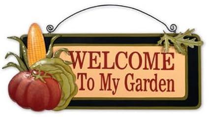 Sunset Vista Designs Veggies Garden Sign, Welcome To My Garden