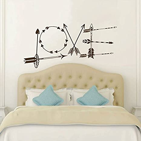 Wall Decals Love Vinyl Arrows Hipster Aztec Arrow Fashion Bohemian Home  Decor Wall Vinyl Decal Stickers Bedroom Decor Art Murals     Amazon.com