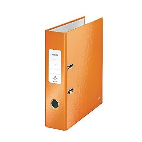 Leitz 180 WOW 80 mm metálico Naranja A4 archivador de palanca [unidades 10]: Amazon.es: Oficina y papelería
