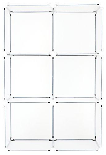 (Achim Home Furnishings SHLV6CFRP4 6 Cube Plastic Drawer Unit Storage Organizer DIY Modular Shelving Cabinet )