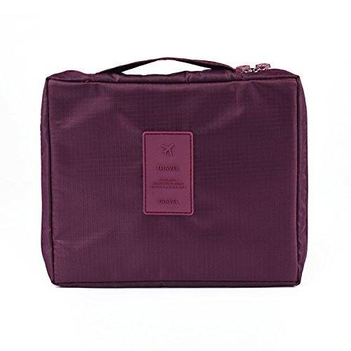 LULANDie neue Multifunktion wasserdicht Oxford Tuch, Reisen, Paket, Doppel-waschtisch Tasche Beautycase Make-up-Tasche, 21*8*18 cm, weinrot