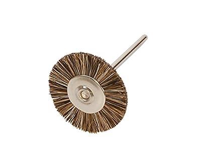 Miniature Brushes on Mandrels, Medium Bristles, 3/4 Inch, 12 Pack