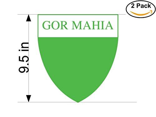 fan products of Gor Mahia Kenya Soccer Football Club FC 2 Stickers Car Bumper Window Sticker Decal Huge 9.5 inches