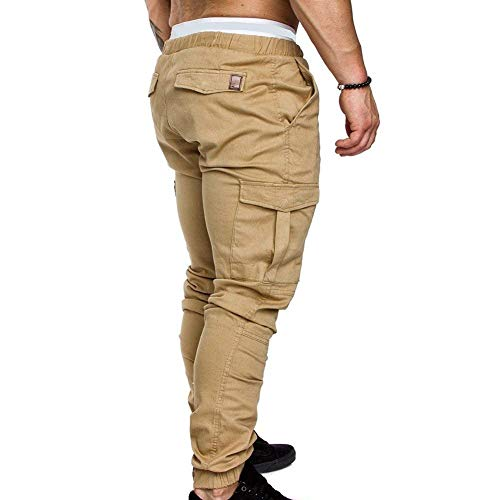 Media Delgados Elástica Pantalones Cintura Trabajo Moda Hombres De Khaki Plus Ropa Basicas Largos FqFSxIa