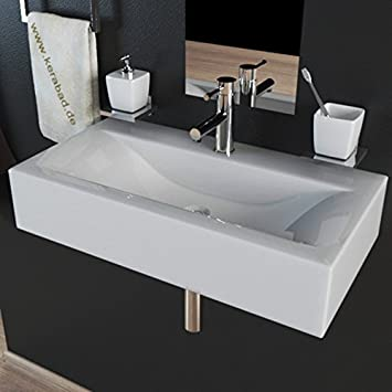 Design Keramik Waschbecken Waschtisch Waschschale Aufsatzwaschbecken ...