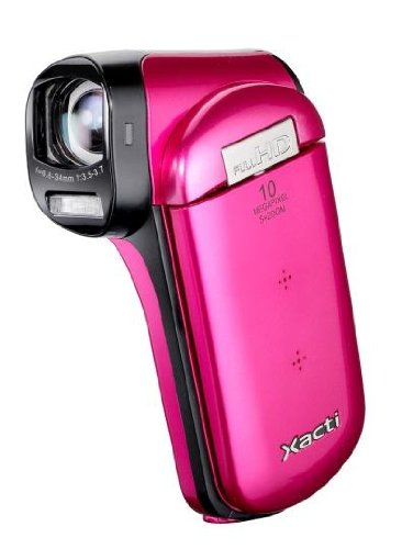 Sanyo Sanyo Vpc-Cg20Exp-B Xacti Cg20 Full Hd Dual Camcorder With 10M Photos And Hdmi - Pink