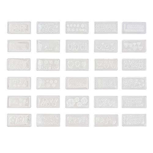 Moldes de silicona p/decoración de uñas x 30u.