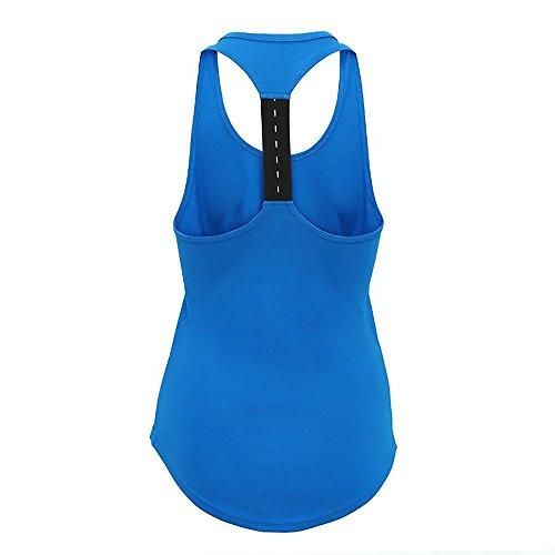 Course Femmes Wear Sport Sans Chemise Bleu Active Débardeur Fitness Manche Gym qxErzYqwt